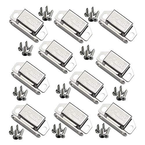 Edelstahl Schrank Tür Magnetverschluss für Schrank Kleine Möbel Bücherregal Schließfach Magnetverschlüsse (10 Stück)(Edelstahlschrauben)