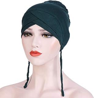 MoreChioce Tinta Unita Copricapo Chemioterapia,Elastico Donna Bandana Turbante Chemo Cancro Cappuccio Hijab,Cappello a Cro...
