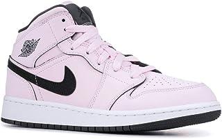 size 40 3bda5 d8dbd Jordan 555112-601  Girls Air Retro 1 Mid Pink-Foam Black