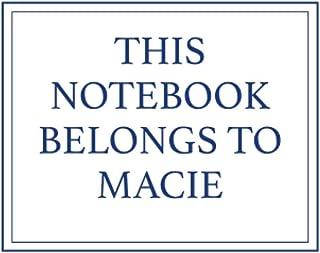 This Notebook Belongs to Macie