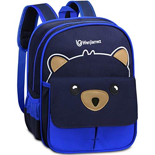 Cute Bear Mochilas para niños Infantil para de 2 a 5 años para  niñas Azul