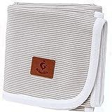 mimaDu® Babydecke aus 100% OEKO-TEX Baumwolle, gestrickte Kuscheldecke - himmlisch weich und bequem - ideal als Taufgeschenk, Geburtsgeschenk oder Baby-Erstausstattung, für Jungen und Mädchen.