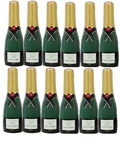 ILOVEFANCYDRESS 12 AUFBLASBARE Champagne Flaschen UNGEFÄHR 73cm HOCH= DIE PERFEKTE Dekoration FÜR Jede Art DER Party DER Hochzeit ODER Geburtstag