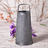 Irvin's Country Tinware Decorative Round Grater in Antique Tin