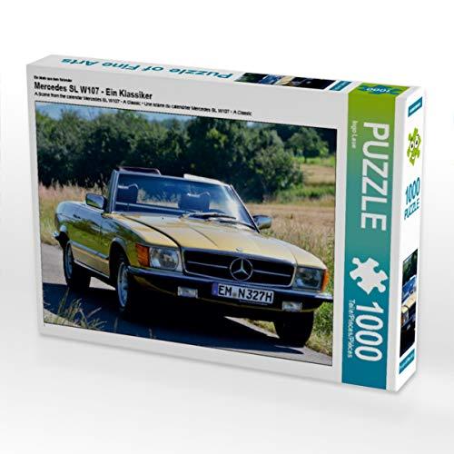 CALVENDO Puzzle Mercedes SL W107 - EIN Klassiker 1000 Teile Lege-Größe 64 x 48 cm Foto-Puzzle Bild von Ingo Laue