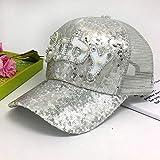 wopiaol Cappello da Bambino Stesso Stile Primavera ed Estate da Viaggio Cappello da Sole Estivo Berretto da Baseball con Protezione Solare Femminile Berretto con Paillettes