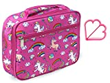 Keeli Kid's Pink Unicorn Lunch Box for Girls Insulated Toddler...