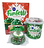 Pillsbury Holiday Funfetti Cake Mix Frosting And Holiday Cup Cake Baking Cups Bundle