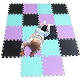 MQIAOHAM Tapis de Sol imbriqué 30 x 30 x 1 cm Tuiles de Puzzle en Mousse EVA...