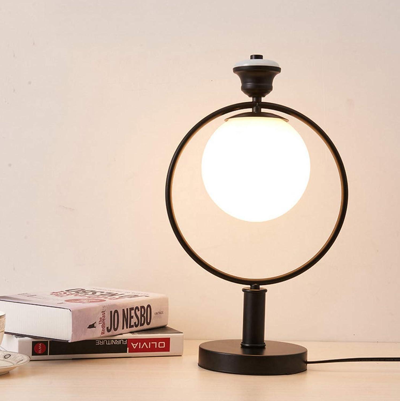 Schlafzimmer nachttischlampe glas tischlampe einfache moderne studie nordic kreative dekoration wohnzimmer ball tischlampe,A