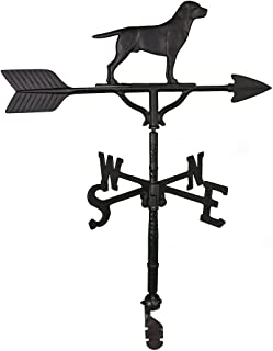 Montague Metal Products 32-Inch Weathervane with Satin Black Retriever Ornament