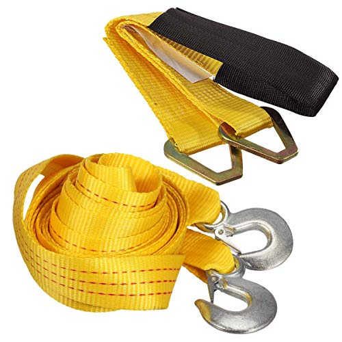 2 x20 Partsam 20FT 2 Securing Towering Strap with Safety Hooks Polyester Heavy Duty 10,000 LB Capacity