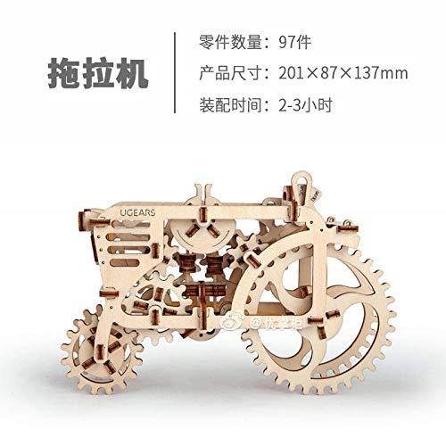 SXOH Ukraine Holz mechanisches Getriebe Modell Adult Assembled Toy Geburtstag Männliche Kinder Geschenk Spielzeug-Spur