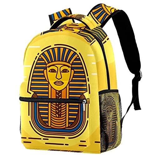 Sac à Dos d'affaires Sac à Dos Fonctionnel Sac a Dos PC Portable pour Loisirs/Affaire/Scolaire Vintage Egypte Pharaon Jaune