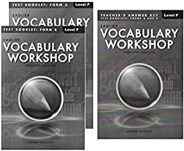 Vocabulary Workshop Test Booklet Form A,B Enriched Edition with Teacher's Answer Keys (Level F)