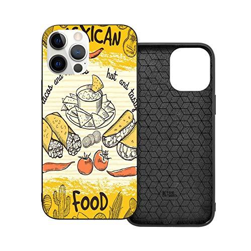 Carcasa para teléfono móvil con diseño de bandera mexicana, color negro compatible con iPhone 12/12Pro Max 11 11 Pro Max XR Xs SE 2020/7/8 6/6s Plus Samsung Huawei LG