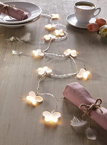 """LED Lichterkette """"Schmetterling"""" warmweiß 130 cm Leuchtschlauch Deko"""