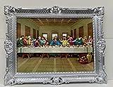 Leonardo Da Vinci Jesús - Cuadro decorativo para pared (90 x 70 cm), diseño de Jesús