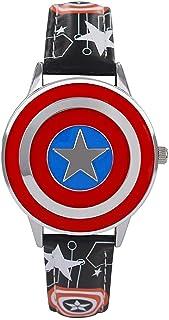BCCDP Capitán América Shield Watch Flip Reloj de Cuarzo Marvel Boy Reloj para niños Regalo para Estudiantes,Reloj de Pulse...