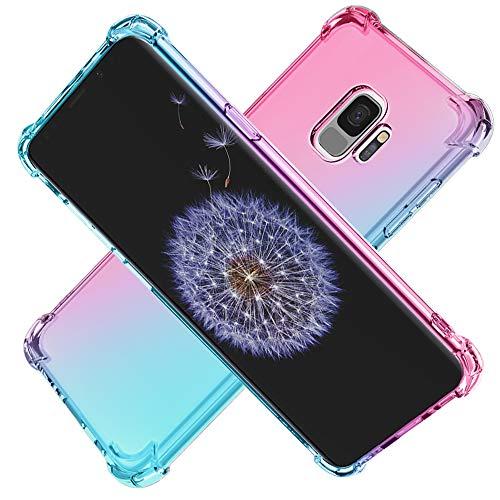 Cuoqing Hülle für Samsung Galaxy S9, Samsung S9 Hülle klar Anti-Kratzer Schock-Absorption Sanft Silikon TPU Handyhülle Hull für Samsung Galaxy S9