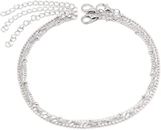 Jewelry feet feet Metal Chain Anklet Three Groups of Female Charm K042