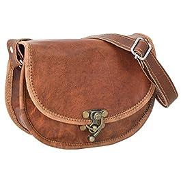 Gusti Sac à main Cuir nature Rosa sac à bandoulière vintage sac pour sortir rétro sac pour tous les jours homme femme…