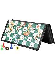 Snake and Ladder Chess, Snake and Ladder Classic Chessboard Games, składana gra w szachy, składana magnetyczna gra w szachy dla dzieci, na imprezę rodzinną