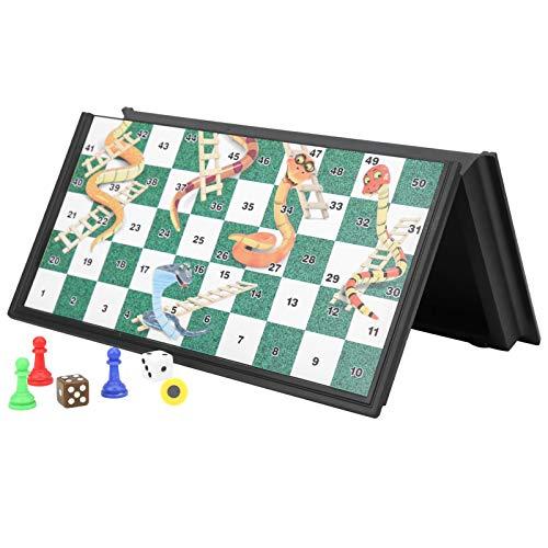 DAUERHAFT Leicht zu tragendes, langlebiges Schachspielspielzeug Kinderschachspiel Magnetic for Family Party