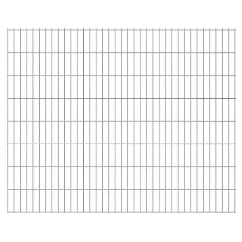 vidaXL 2D Panneaux de clôture de Jardin 2008 x 1630 mm 44 m Argent