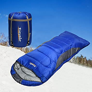 0 Degree Winter Sleeping Bag for camping (350GSM) -Temp Range (5F – 32F) Portable Waterproof with Compression Sack- Camping Sleeping Bags for Big and Tall in Env Hoodie:for Hiking backpacking 4 Season