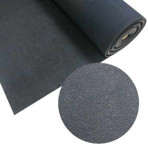 Rubber-Cal Tuff-N-Lastic Rubber Flooring Runners, 1/8-Inch x 4 x 15-Feet, Black