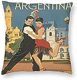 Vintage Reizen Argentinië Buenos Aires Poster Kussensloop