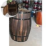 GZHENH Barriles De Vino, Jardinera De Medio Barril Retro Botellero En Forma De Barril Adornos Decorativos Botella De Vino Armario Mesa De Vino, 2 Colores, 2 Tamaños