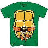Teenage Mutant Ninja Turtles TMNT Mens Costume T-Shirt(Michelangelo,Large)