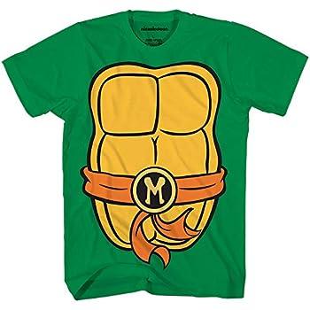 Teenage Mutant Ninja Turtles TMNT Mens Costume T-Shirt Michelangelo,Large