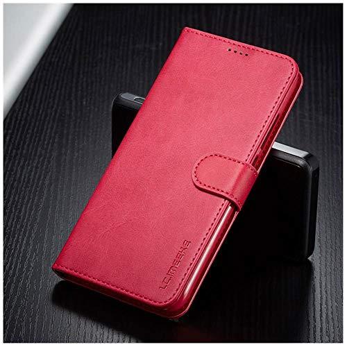 Lianli Lederhülle für Xiaomi Redmi 7 A 7A, Handyhülle auf Xiomi Redmi Note 7 Pro F&a Luxe Wallet Flip Cover Redmi7 Handyschale, Rosarote Hülle, Redmi Note 7 (Pro)