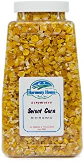 Harmony House Foods Dried Corn, whole (14 oz, Quart Size Jar) for Cooking, Camping, Emergency Supply, and More
