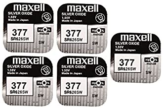Maxell 5 x SR626SW SR626 AG4 377 1.55v Watch Batteries by