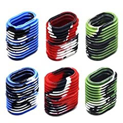 6 pieces ( 3 pairs ) 3 different camo colors (2 pcs per color) of reel grips in pack, patriotic tie dye finish Made of a soft rubber composite, easily slide over your existing bait cast reel handles Gives added comfort and grip to your baitcast reel ...