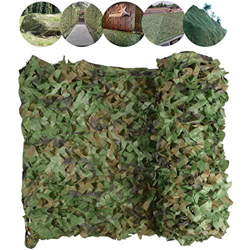 Filet De Camouflage Militaire Renforcé Filet D'ombrage Grande Taille pour Chasse Anti UV Décoration Terrasse Armee Jardin Pergola Photographe,6×8m/19.7×26.2'