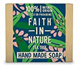 Faith in Nature Natural Tea Tree Hand Soap Bar, Cleansing Vegan & Cruelty Free, Parabens and SLS Free, 100 g