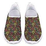 UOIMAG, Zapatillas Divertidas con Notas Musicales, Zapatillas de Regalo para Mujer, Zapatos Transpirables para Enfermera, Zapatos para Caminar 36EU