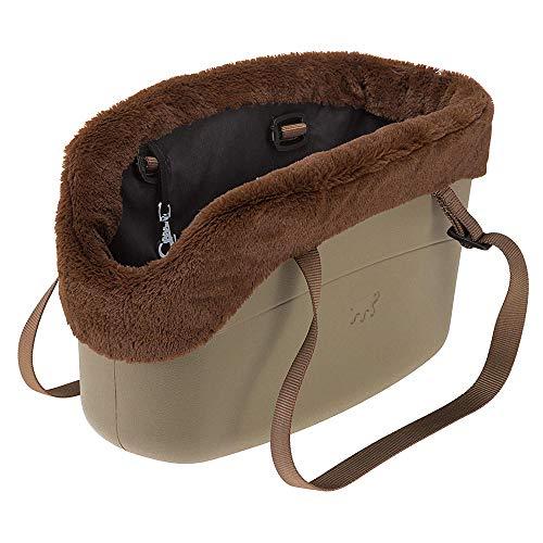 Ferplast 79515021 Hundetragetasche, Maße: 21,5 x 43,5 x 27 cm Turtel taube