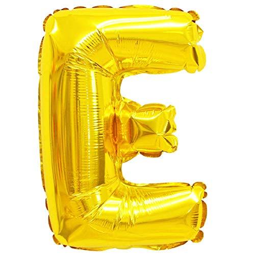 XXL LUFTBALLONS Folien-Ballons Heliumballons Buchstaben & Zahlen & Zeichen - 80CM GROßE Party-Dekoration XL für Geburtsag Hochzeit Feier - E in Gold