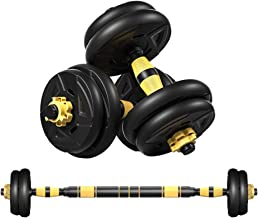 DOYCE Adjustable Weights Dumbbells Set, Free Weights Set with Connecting Rod for Men and Women Full Body Workout Gym Equip...