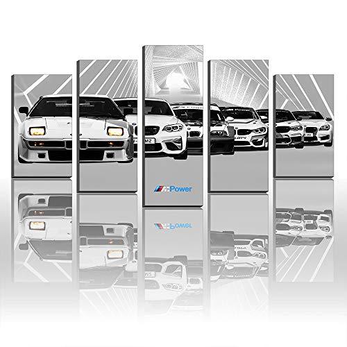 Lienzo impreso M1 E26 M2 M235i AC M3 GTR E46 M4 Gt4 M5 Sports Cars M6 Power M8 GTE Decoración de pared (marco tamaño 5)