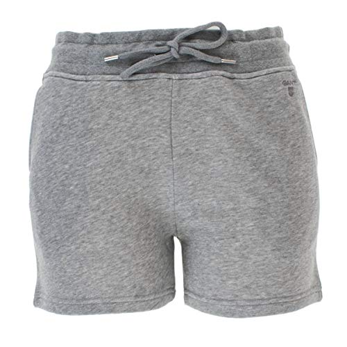GANT Damen Jogging Shorts Sweat Shorts Tonal Shield in Grau (93) Größe L