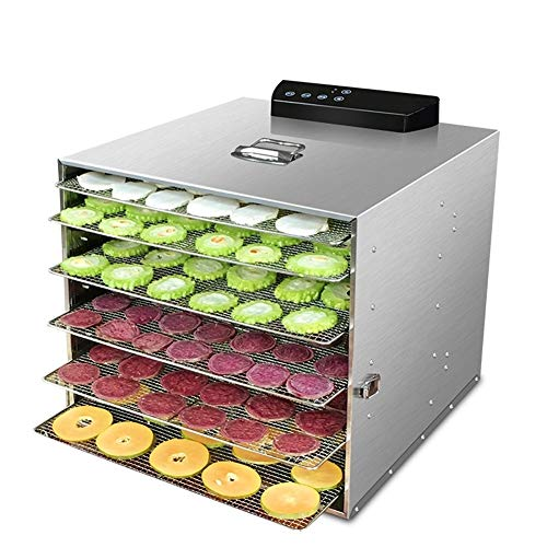 Find Bargain Food Dehydrator Fruit Vegetable Herb Meat Drying Machine Pet Snacks Food Dryer With 6/8...