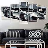 GIRDSSC Wandbild Bilder Auf Leinwand 5 Teilig Lamborghini