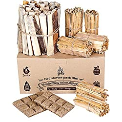 Fire Starters Box: kindling Wood Sticks + fire Starter logs (Similar fatwood)...